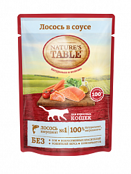 Консервы (пауч) для кошек Nature's table Лосось в соусе, 85 г